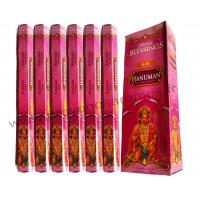 Encens HANUMAN DIVINE BLESSINGS boîte de 6 étuis de 20 bâtonnets
