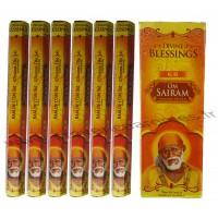 Encens OM SAIRAM DIVINE BLESSINGS boîte de 6 étuis de 20 bâtonnets