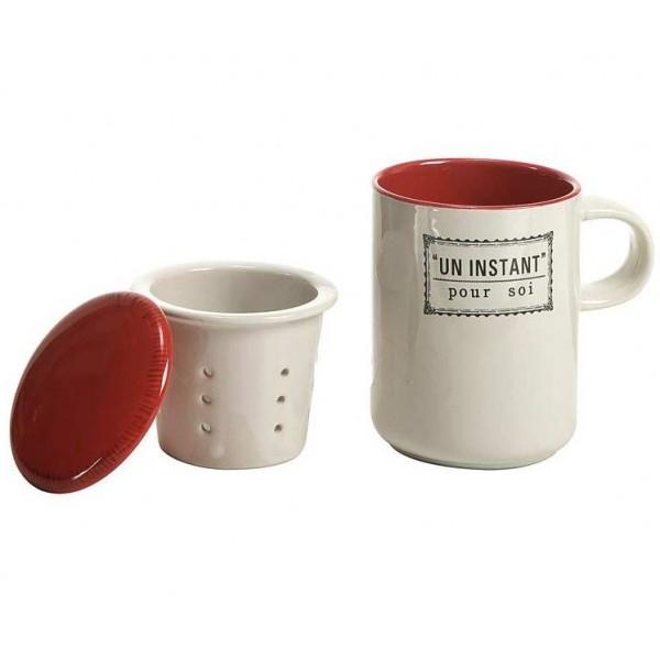tisani re mug avec passoire et couvercle un instant pour soi comptoir de famille provence. Black Bedroom Furniture Sets. Home Design Ideas