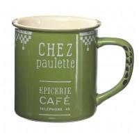 Mug vert CHEZ PAULETTE Comptoir de Famille