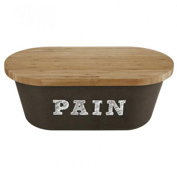 bo te pain noire avec planche bambou comptoir de famille provence ar mes tendance sud. Black Bedroom Furniture Sets. Home Design Ideas