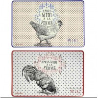 2 sets de table POULE GALLINE Comptoir de Famille