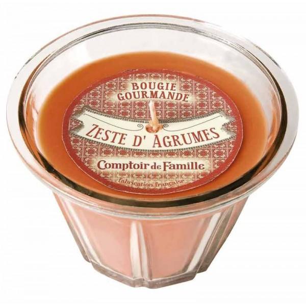Bougie zeste d 39 agrumes bougie comptoir de famille collection bougie gourm - Comptoir de famille salon de provence ...
