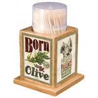 Boîte à Cure dents BORN TO BE OLIVE Natives déco rétro vintage