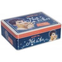 Boîte à thé 6 compartiments NUIT DES THÉS Natives déco rétro vintage