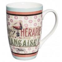 Mug MACARON HAPPY THÉRAPIE Française Natives déco rétro vintage