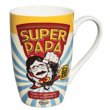 Mug SUPER PAPA Natives déco rétro vintage