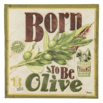 Serviettes papier BORN TO BE OLIVE Natives déco rétro vintage