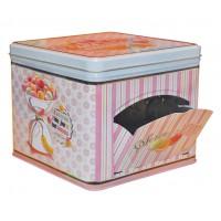 Boîte à biscuits distributrice MACARONS HAPPY THÉRAPIE à la Française Natives déco rétro vintage