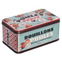 Boîte pour cubes et bouillons POULES PARTY Natives déco rétro vintage