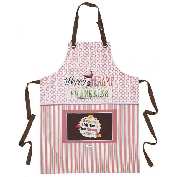 tablier de cuisine macarons happy th201rapie 224 la fran231aise