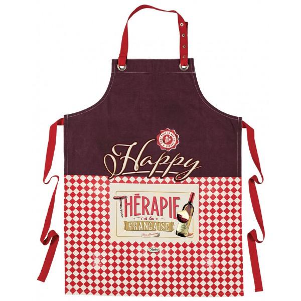 tablier de cuisine vin happy th201rapie 224 la fran231aise