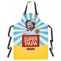 Tablier de cuisine SUPER PAPA Natives déco rétro vintage