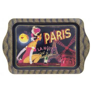 Petit plateau en métal PARIS LA NUIT Natives déco rétro vintage