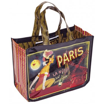 Sac Cabas PARIS LA NUIT Natives déco rétro vintage