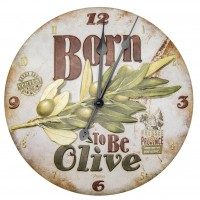 Horloge BORN TO BE OLIVE Natives déco rétro vintage