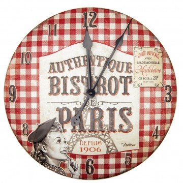 Horloge BISTROT DE PARIS Natives déco rétro vintage