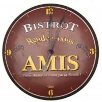 Horloge BISTROT DES AMIS Natives déco rétro vintage