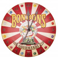 Horloge BONBONS GOURMANDS Natives déco rétro vintage