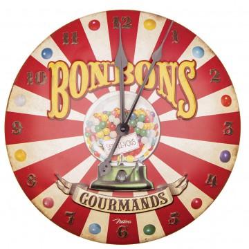 Horloge BONBONS GOURMANDS Natives déco rétro vintage