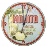 Horloge MOJITO Natives déco rétro vintage