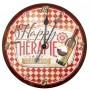 Horloge VIN HAPPY THÉRAPIE à la Française Natives déco rétro vintage