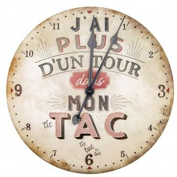 Horloge PLUS D'UN TOUR DANS MON TAC Natives déco rétro vintage
