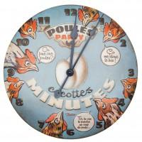 Horloge POULES PARTY Natives déco rétro vintage