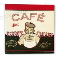 """Serviette papier déco """" George Clounet """""""