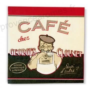 """Serviettes en papier """" Georges Clounet """" Natives déco rétro vintage"""