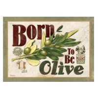 Carte postale BORN TO BE OLIVE Natives déco rétro vintage