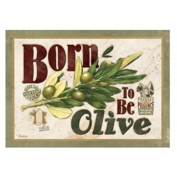 Carte postale BORN TO BE OLIVE Natives déco rétro vintage