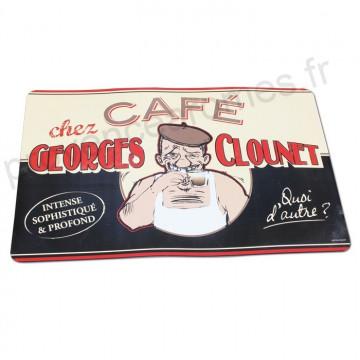 """Set de Table """" George clounet """" déco rétro vintage humoristique Natives"""