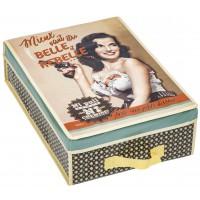 Boîte à lingerie BELLE ET REBELLE Natives déco rétro vintage humoristique