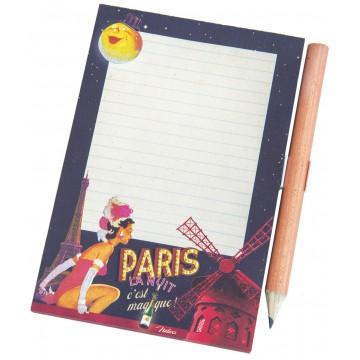 Mémo aimanté PARIS LA NUIT Natives déco rétro vintage