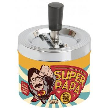 Cendrier poussoir SUPER PAPA Natives déco rétro vintage