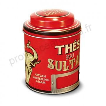 """Boîte à Thé métal """" Thés du Sultan """" Natives déco rétro vintage"""