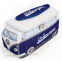 Trousse de toilette vw combi Volkswagen bleu blanc Brisa rétro vintage collection
