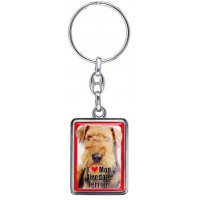 Porte-clés chien AIREDALE TERRIER en métal