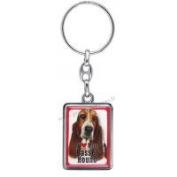 Porte-clés chien BASSET HOUND en métal