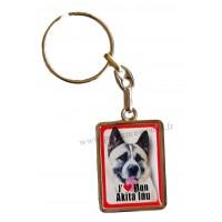 Porte-clés chien AKITA INU en métal