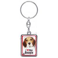 Porte-clés chien BEAGLE en métal