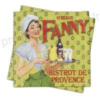 """Serviette papier déco """" Chez Fanny"""""""