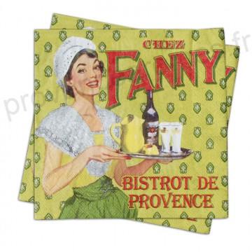 """Serviettes en papier """" Fanny"""" Natives déco rétro vintage"""