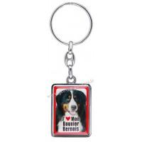 Porte-clés chien BOUVIER BERNOIS en métal