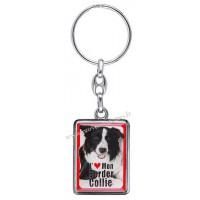 Porte-clés chien BORDER COLLIE en métal