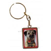 Porte-clés chien BORDER TERRIER en métal