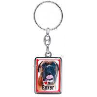 Porte-clés chien BOXER en métal