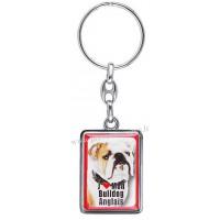 Porte-clés chien BULLDOG ANGLAIS en métal