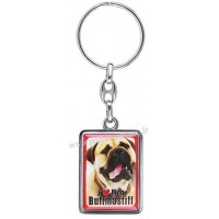 Porte-clés chien BULLMASTIFF en métal